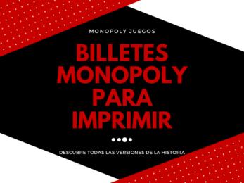 Billetes Monopoly para Imprimir