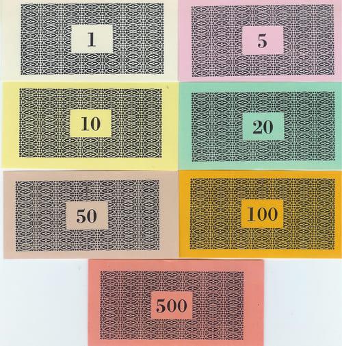 Billetes Monopoly Versión 1 (Darrow tipo 1)