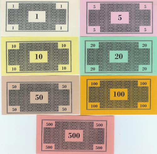 Billetes Monopoly Versión 2 (Darrow tipo 2)