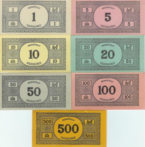 Billetes Monopoly Versión 3 (Pendiente de patente)