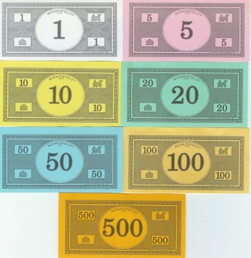 Billetes Monopoly Versión 8 (1991 Hasbro)