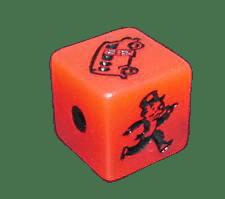 dado rápido monopoly rojo