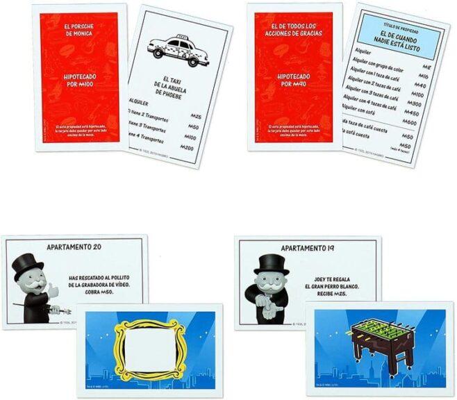 Monopoly Friends cartas y tarjetas
