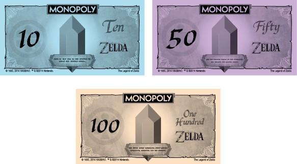monopoly zelda billetes rupias