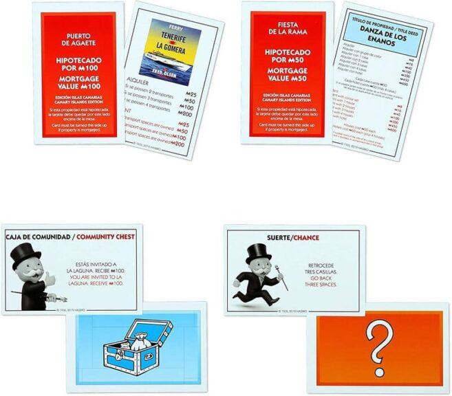 Monopoly Canaria tarjetas