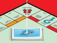 Monopoly Cartas Caja de la Comunidad Indicación tablero