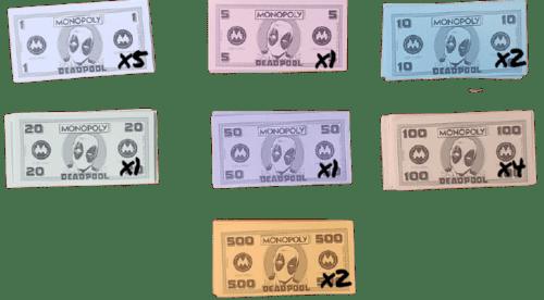 Monopoly deadpool billetes