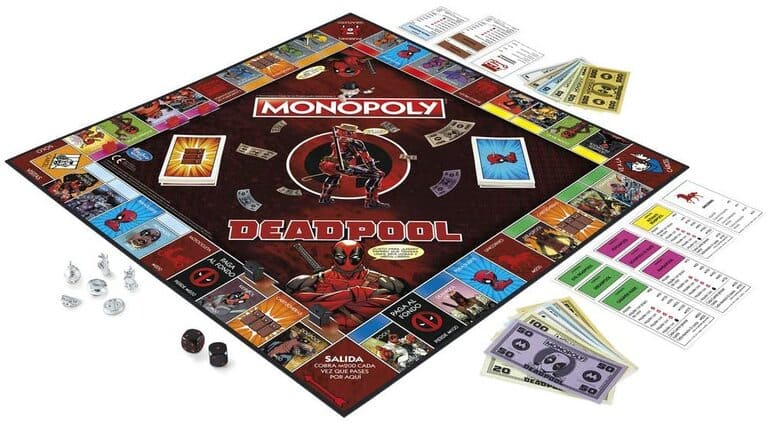 Monopoly deadpool tablero