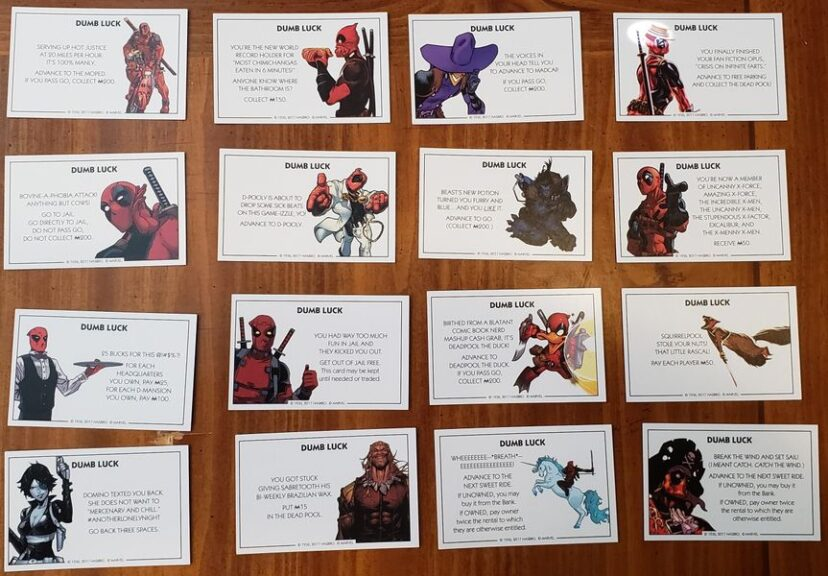 Monopoly deadpool cartas