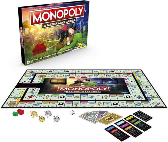Monopoly la partida más larga tablero