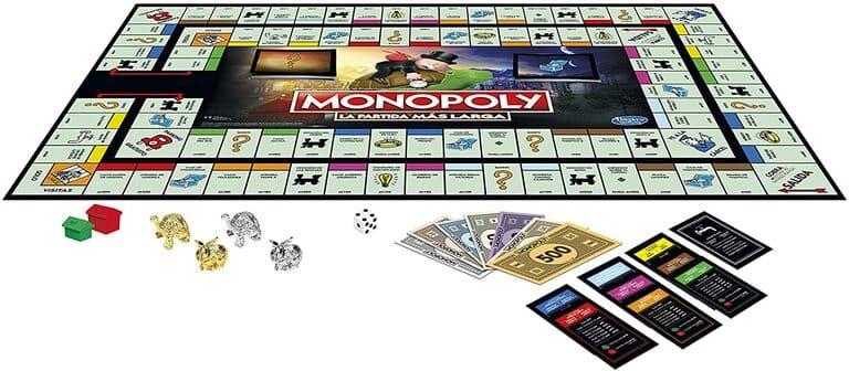 Monopoly la partida más larga tablero detalle