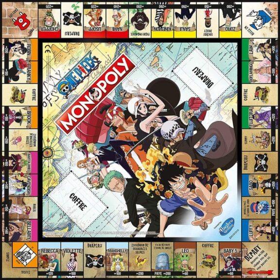 monopoly one piece tablero detalle