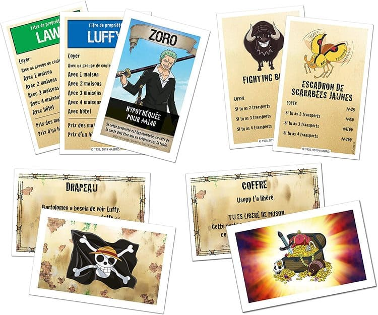 monopoly one piece tarjetas