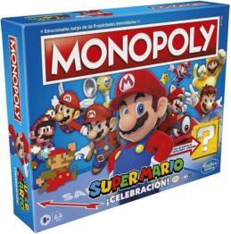 Monopoly super mario celebración portada juego