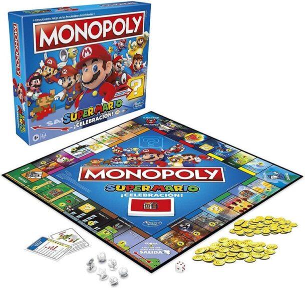 Monopoly super mario celebración tablero