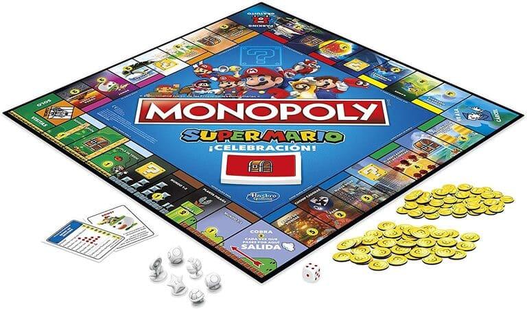 Monopoly super mario celebración tablero detalle