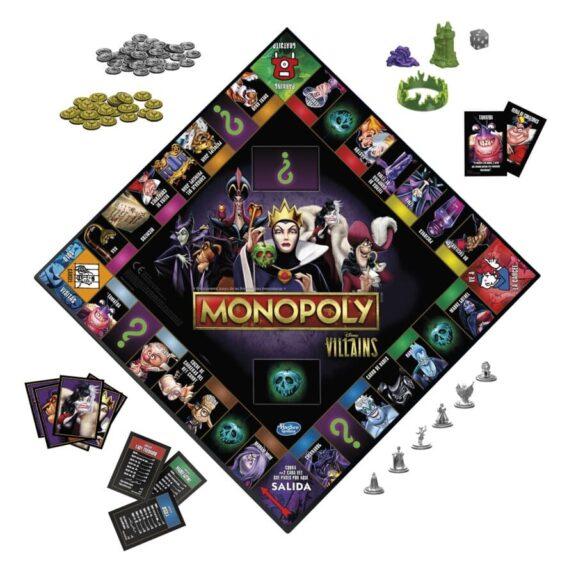 Monopoly Villanos Disney tablero detalle