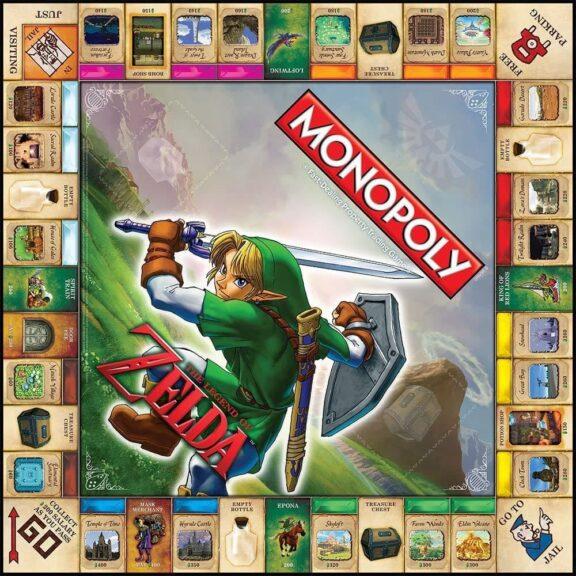 monopoly zelda tablero detalle